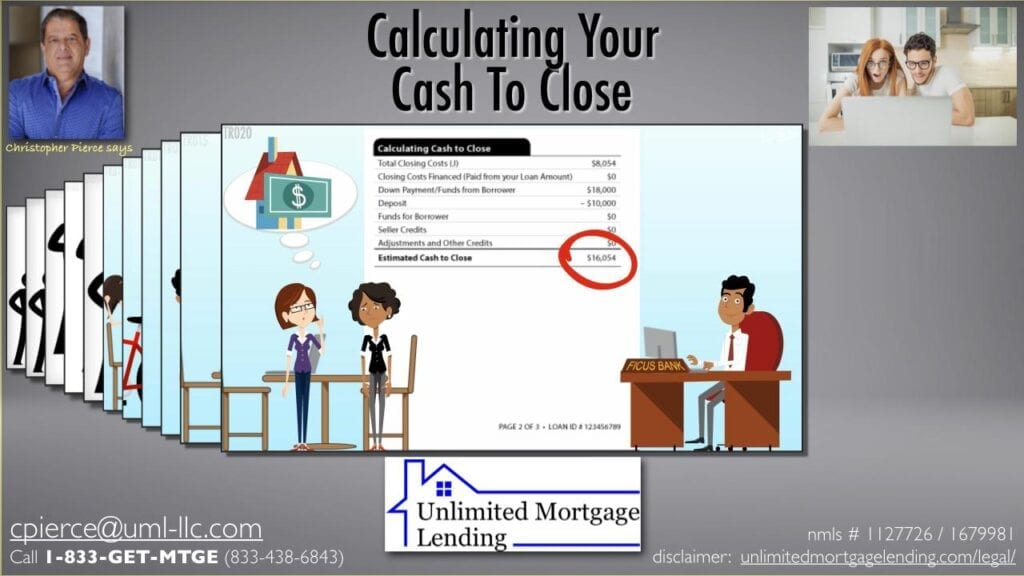 Calculating Your Cash To Close Unlimited Mortgage Lending