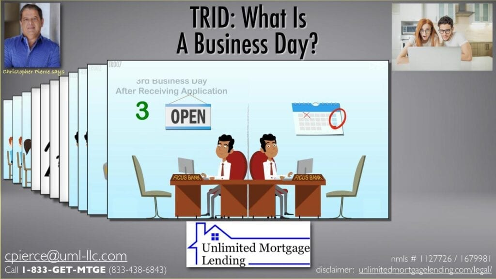 What Is A 'Business Day' For Real Estate Loan Disclosures? Unlimited Mortgage Lending
