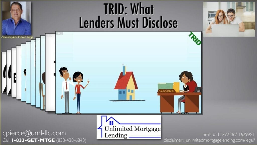 What Do Lenders Have To Tell You About Your Real Estate Loan? Unlimited Mortgage Lending