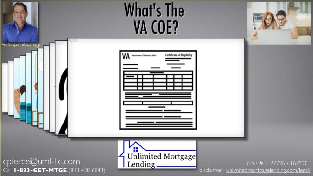 Certificate of Eligibility, what is VA COE