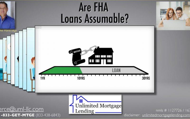 Are FHA Loans Assumable_