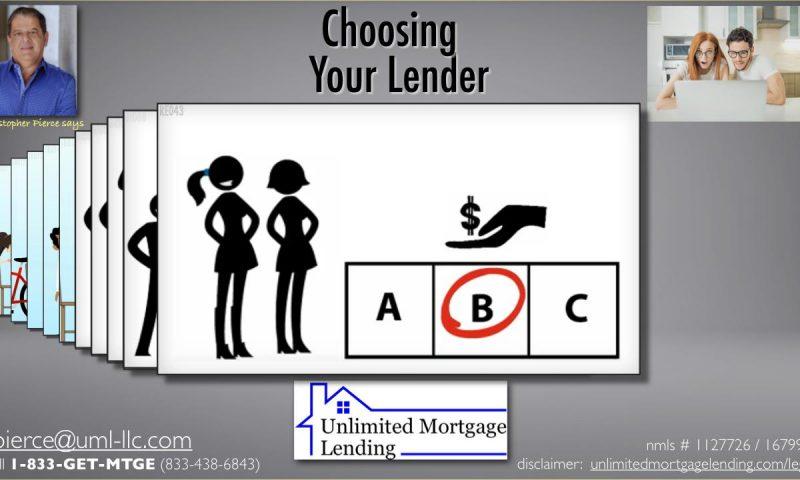 Choosing Your Lender