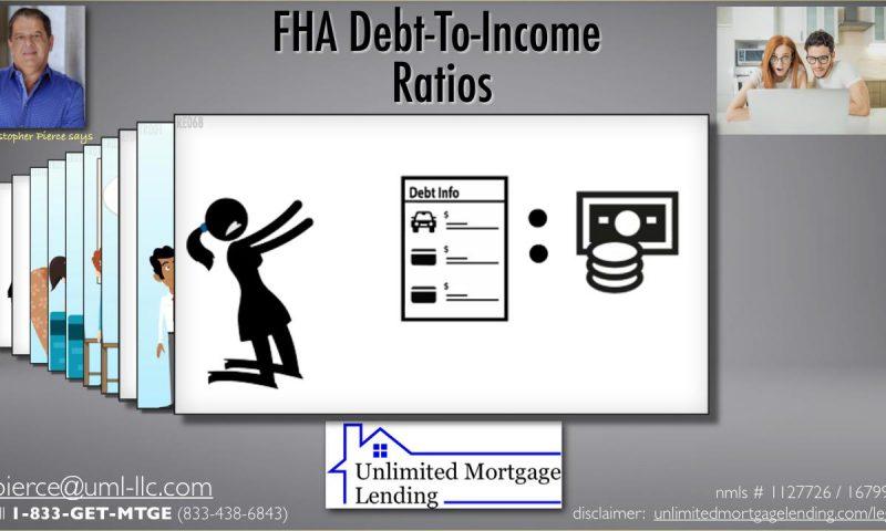 FHA Debt-To-Income Ratios