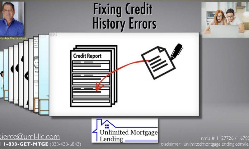 Fixing Credit History Errors