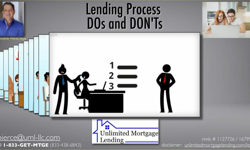 Lending Process DOs and DON'Ts