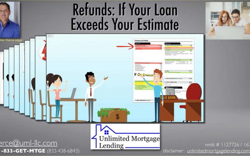 Refunds - If Your Loan Exceeds Your Estimate