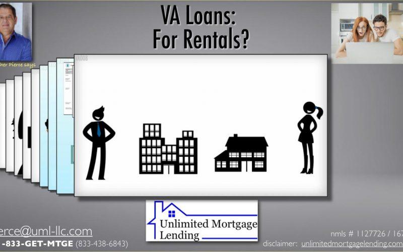 VA Loans - For Rentals_